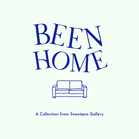 """Been Home logo with """"Been Home"""" spelt in wiggly letters, and a couch"""