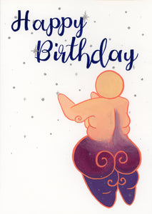 """Happy Birthday"" Goddess Card"
