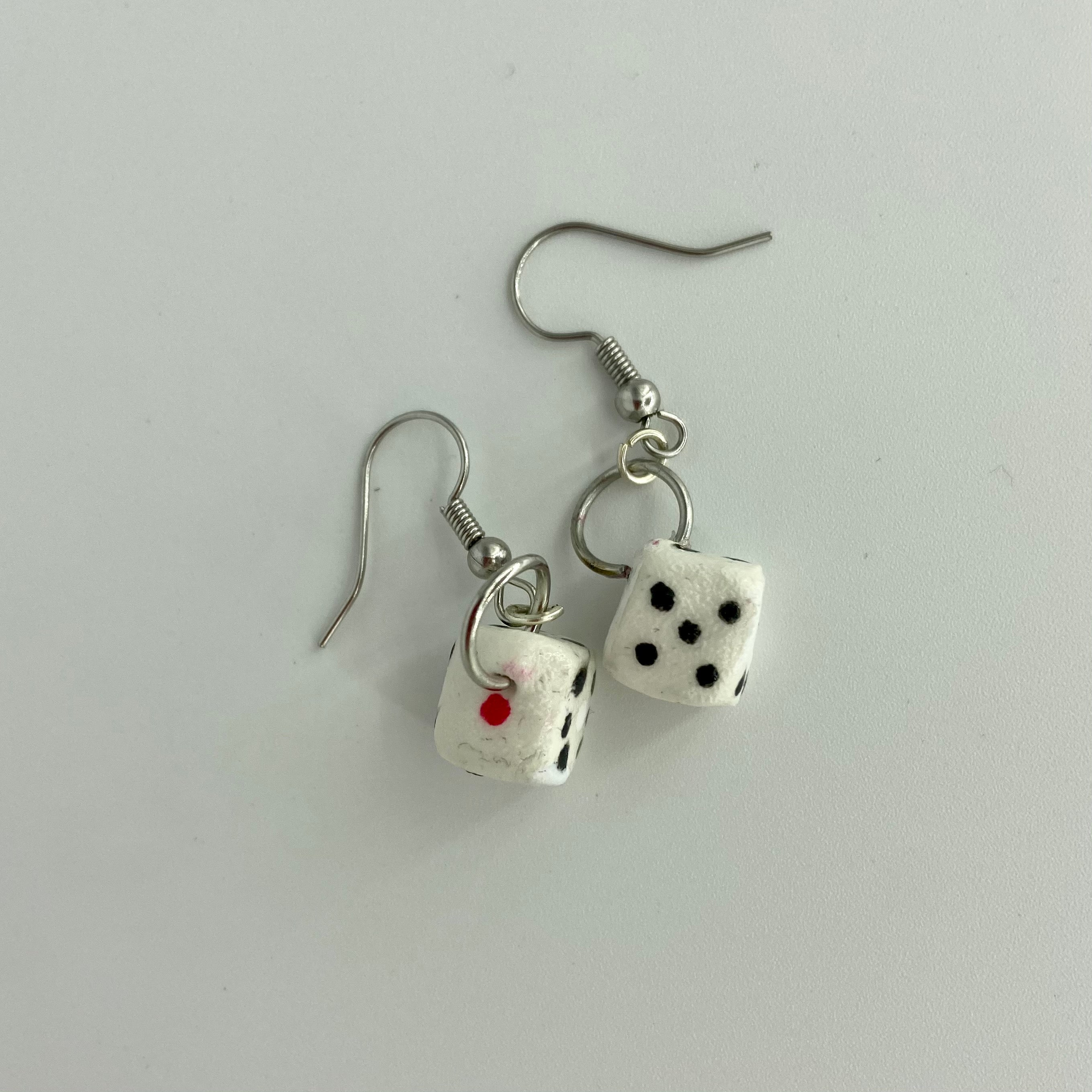 small dice earrings