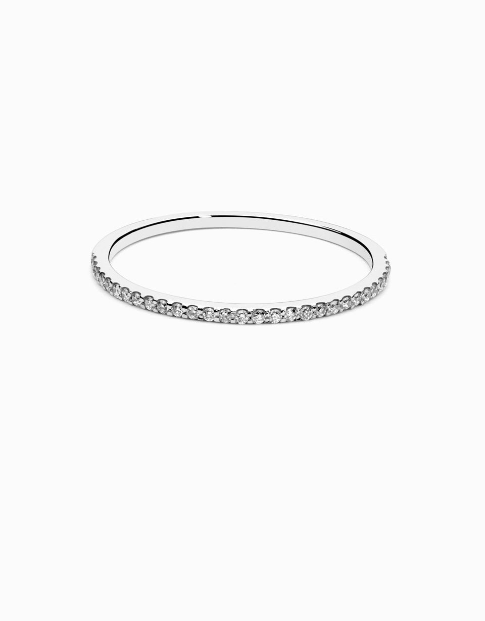 wedding ring with diamonds in white gold 0,15ct