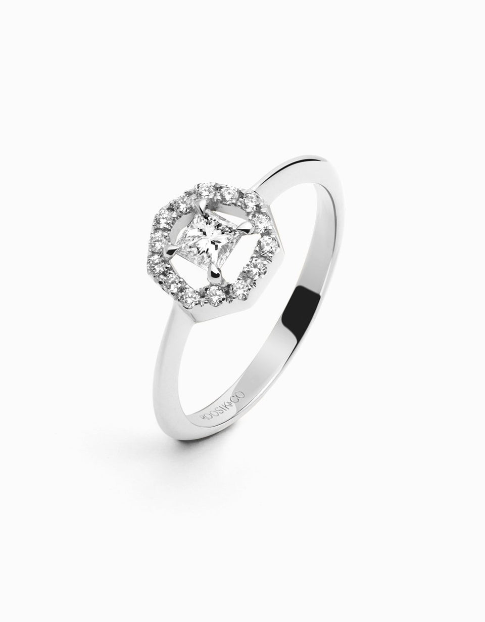 Diamond ring, engagement ring, handmade, jewelry design by Jordi Rosich