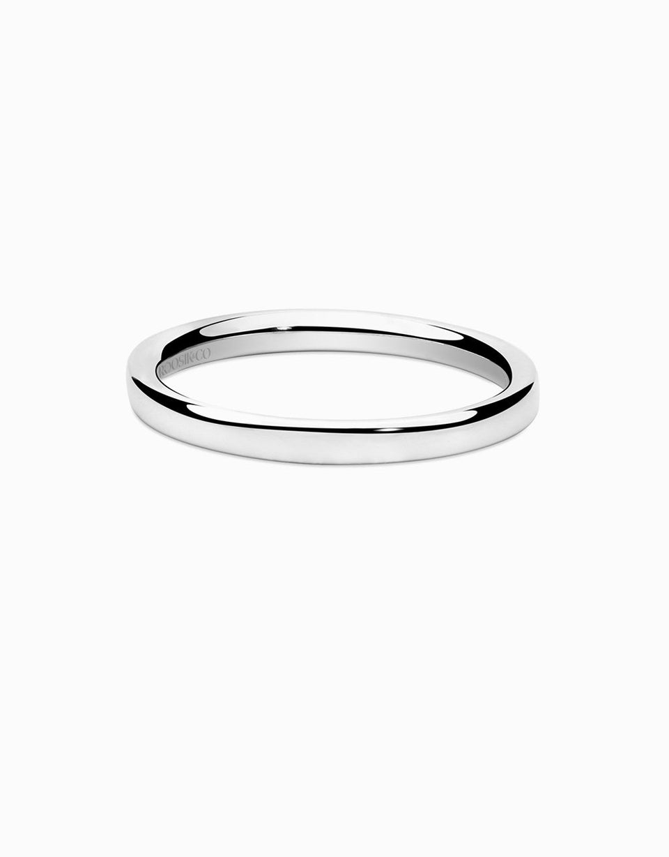 Wedding ring minimal in white gold