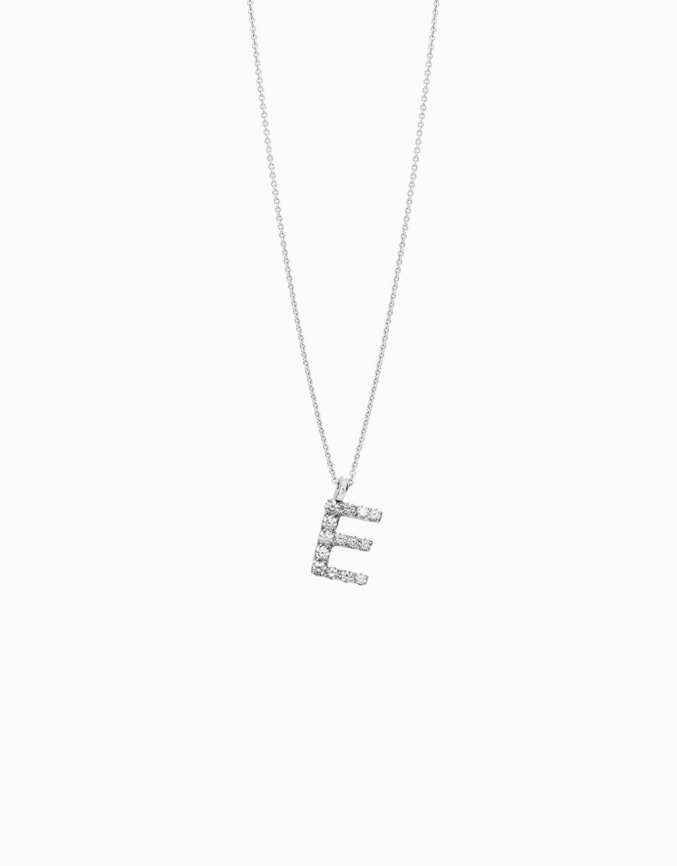 Roosik&Co - Script Necklace - White Gold and Diamonds