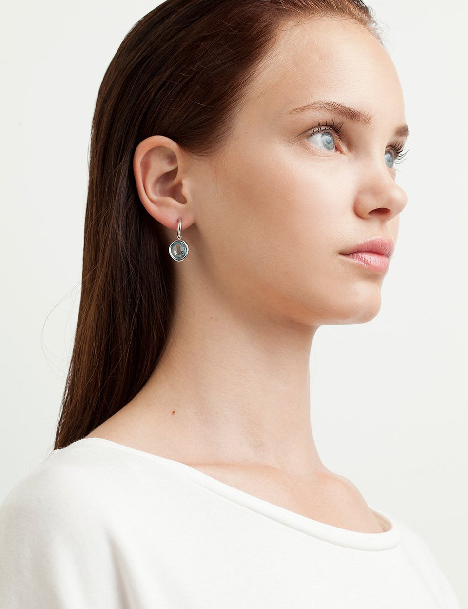 Topaz Earrings in white gold handmade by Jordi Rosich by Roosik & Co