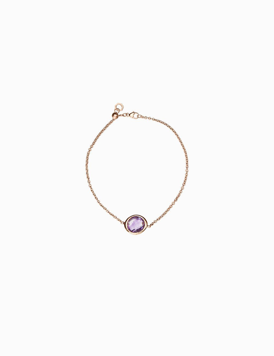 Roosik&Co - Blossom Bud Bracelet- Yellow Gold and Granet