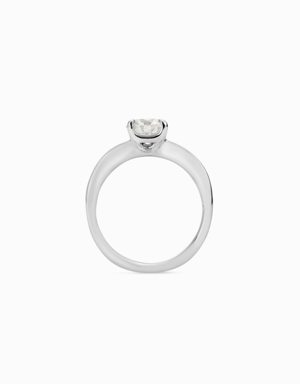 Roosik&Co _ Eternal Solitaire Engagement Ring in Platinium and Diamond 1,08c