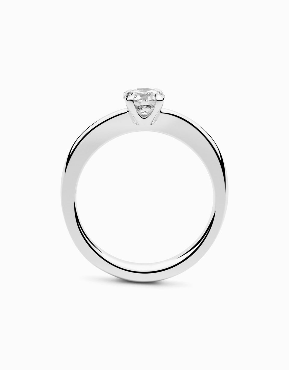 Original engagement rings with 0,25 ct brilliant-cut diamond