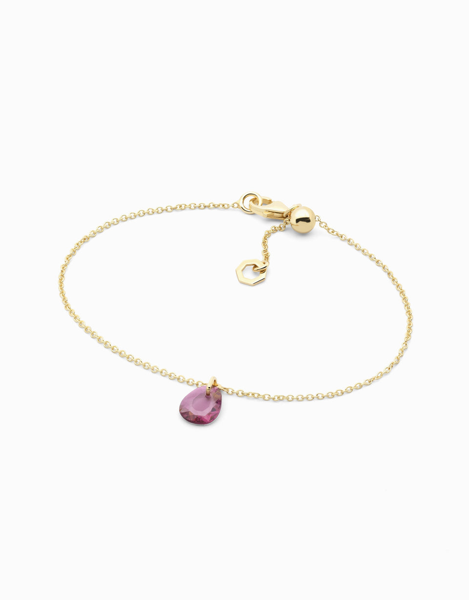 Gold bracelet with pink spinel in rose cut