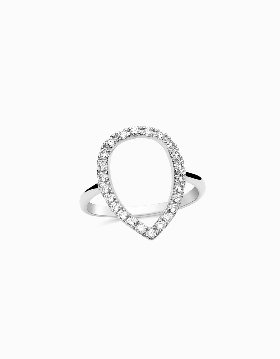 Teardrop Ring · Diamonds