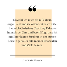 Lade das Bild in den Galerie-Viewer, 1:1 Fokus Coaching mit Life Coach Christine Neder