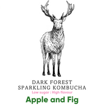 Load image into Gallery viewer, Dark Forest Sparkling Kombucha - Apple and Fig