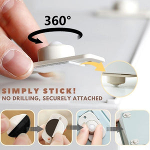 360º Storage Box Stick-On Wheels LuckCharmer