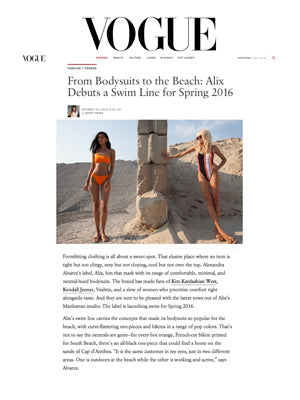 ALIX Swim Collection debuts in Vogue.com