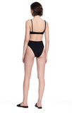 """Alton"" Black Bikini Bottom Swimsuit Full View"