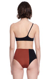 """Catalina"" Black and Sienna Bikini Top Swimsuit Back View"