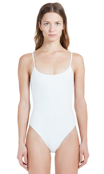Elizabeth White Bodysuit Sleeveless Tank Top