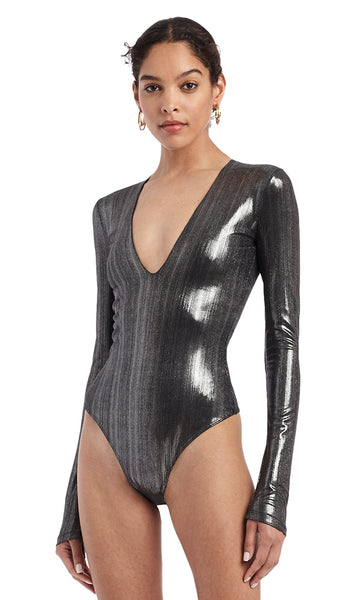 Irving Lamé Bodysuit