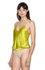 Lewis Chartreuse V-neck Tank Bodysuit Side View