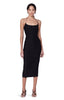 Kenmare Black Asymmetrical Spaghetti Strap Dress Front View