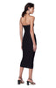 Kenmare Black Asymmetrical Spaghetti Strap Dress Closed Zipper Slit Back
