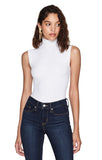 Denton White Skin Turtleneck Bodysuit With Jeans