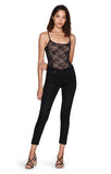 Minna Black Lace Tank Bodysuit Full View
