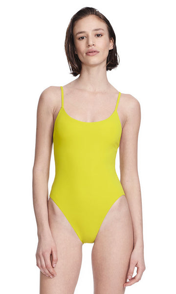 Delano Lime/Ivory One Piece Swimsuit Front View