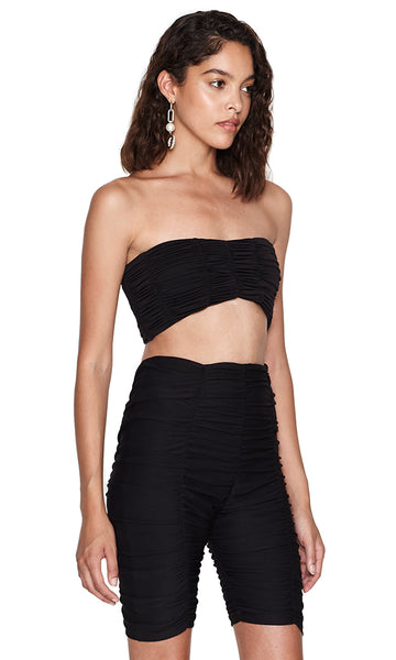 Jane Black Ruched Cropped Top