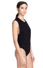 Thompson Black Bodysuit Muscle Tee Jersey Side View