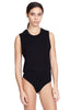 Thompson Black Bodysuit Muscle Tee Jersey. Side View Alt