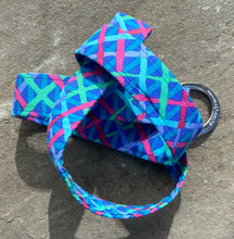 Load image into Gallery viewer, Blue Crisscross Fabric Belt