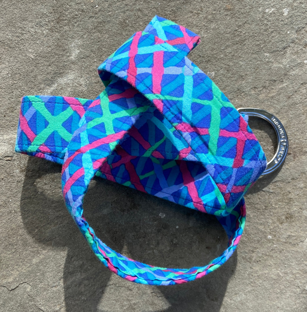 Blue Crisscross Fabric Belt