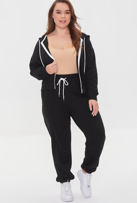Link to Plus Size French Terry Joggers Black