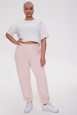 Link to Plus Size French Terry Joggers Rose