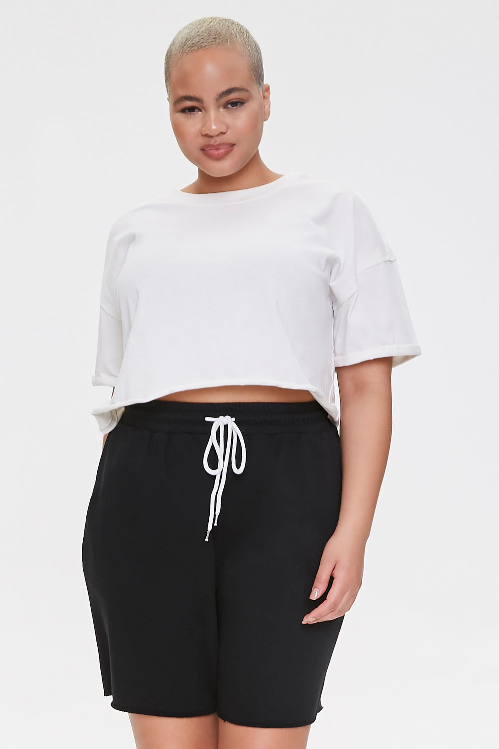 Plus Size Boyfriend Sweatshorts Black