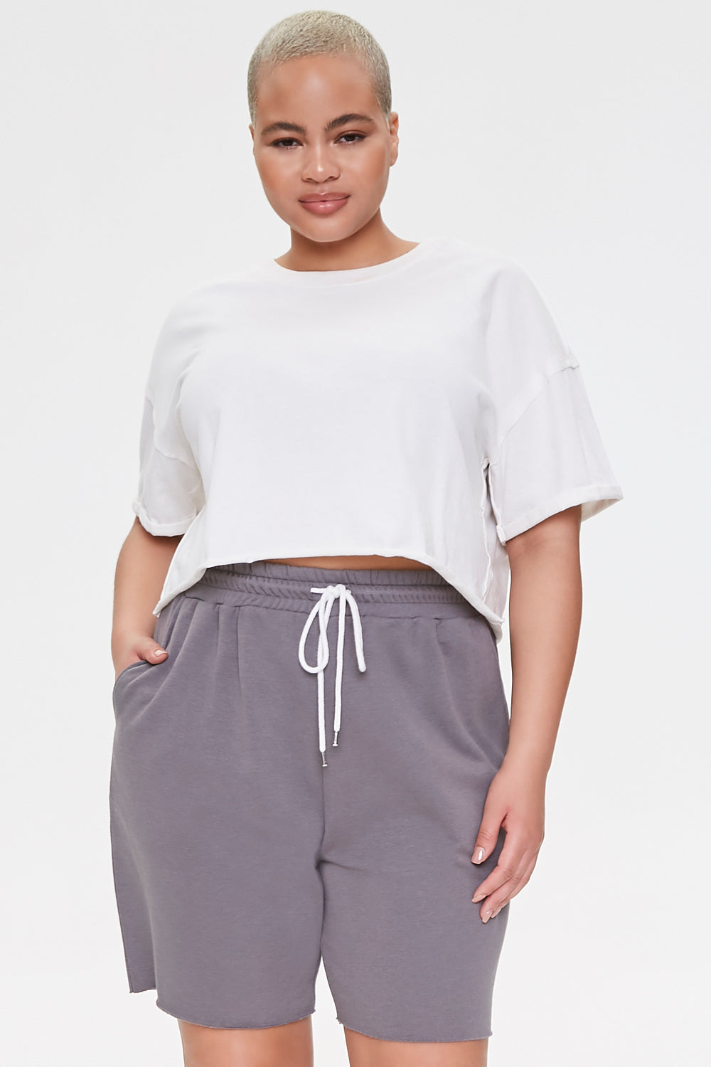 Plus Size Boyfriend Sweatshorts Charcoal