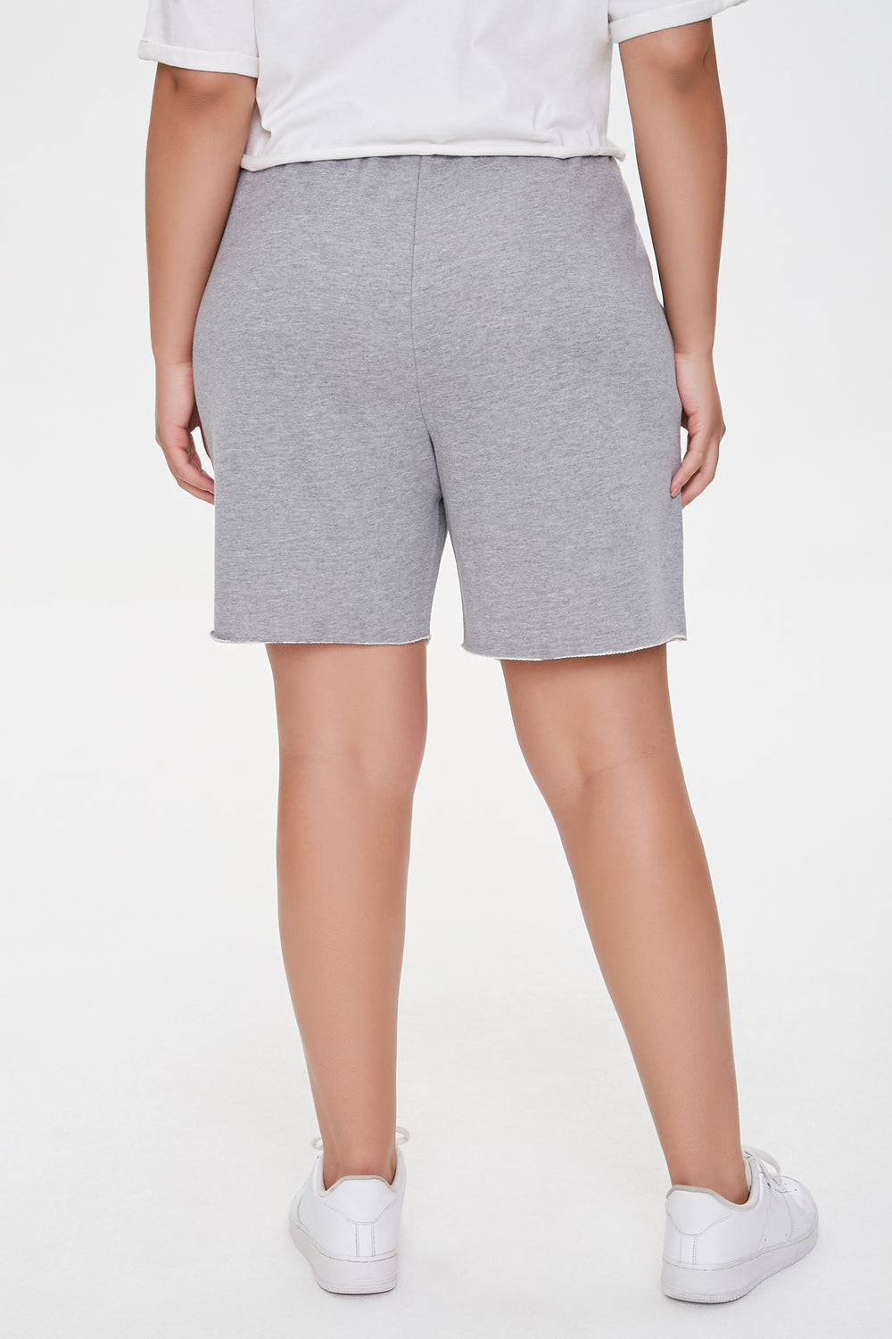 Plus Size Boyfriend Sweatshorts Heather Grey