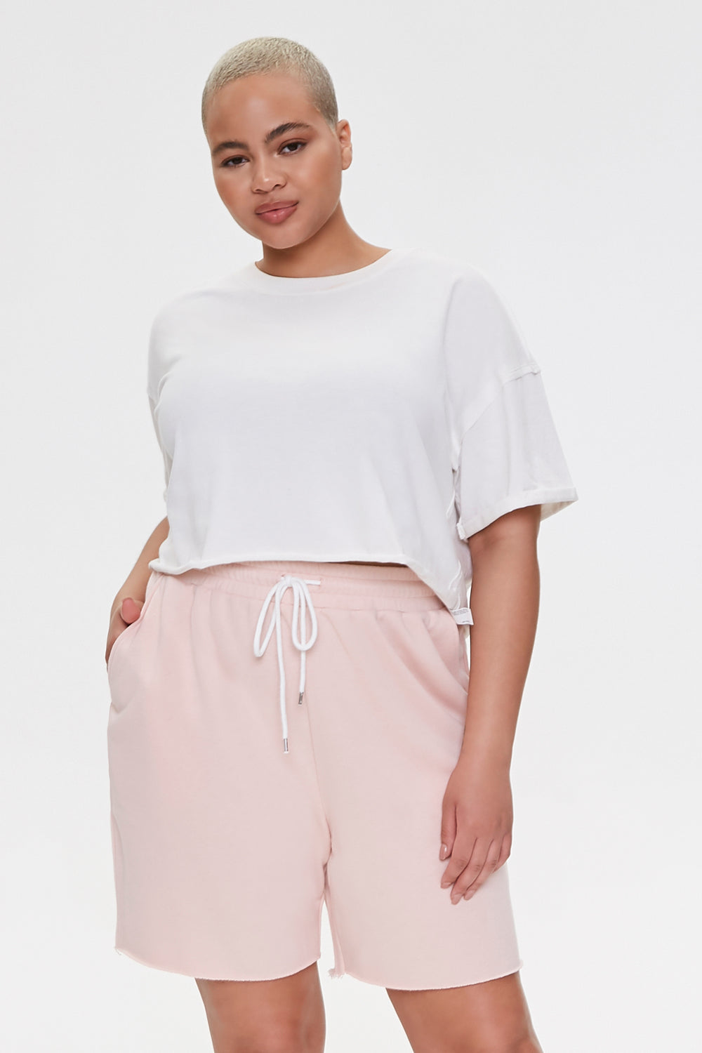 Plus Size Boyfriend Sweatshorts Rose