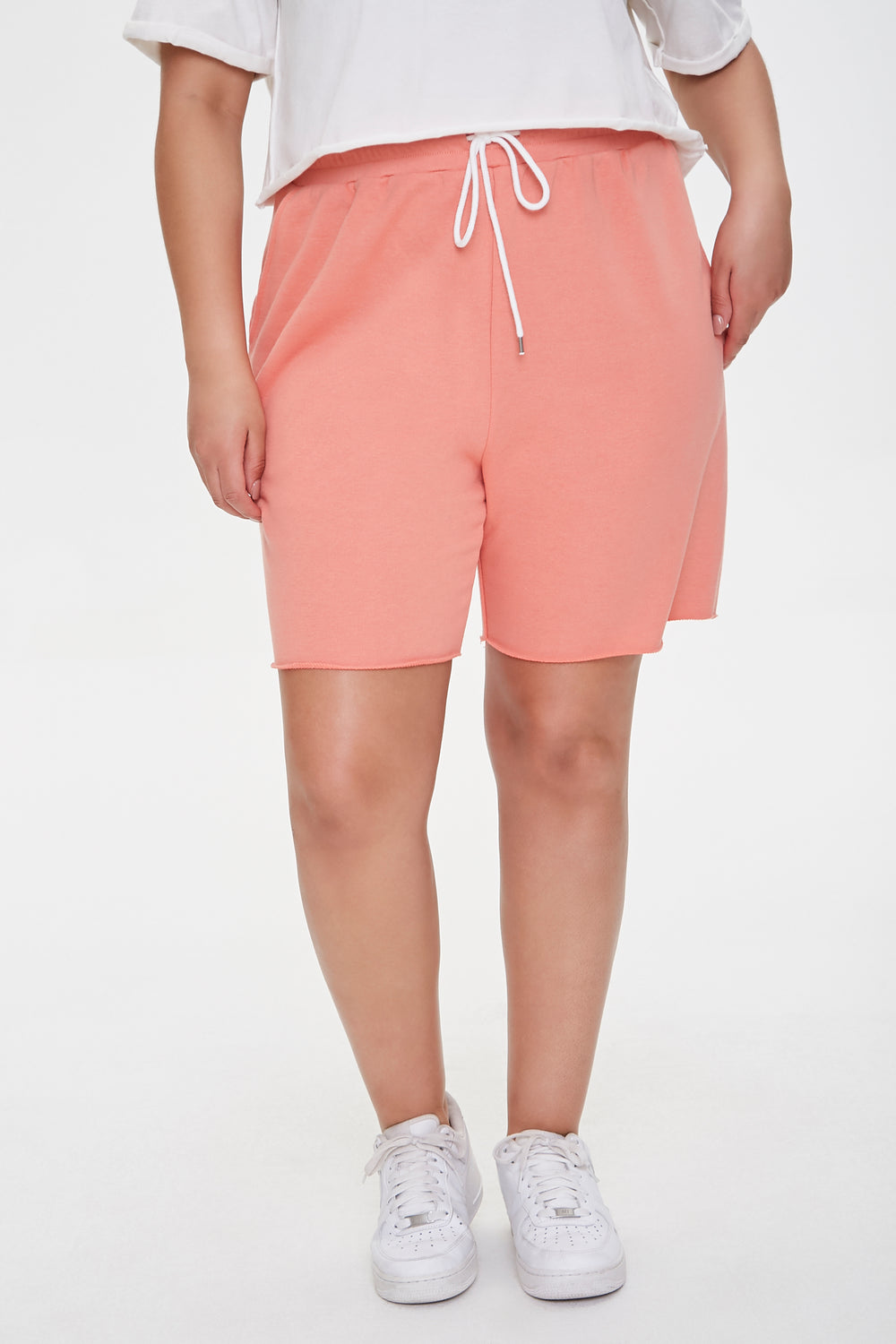 Plus Size Boyfriend Sweatshorts Rust