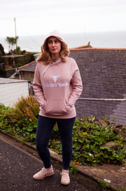 Womens Pink Leisure Pullover Hoodie by Stitch & Simon - Stitch & Simon