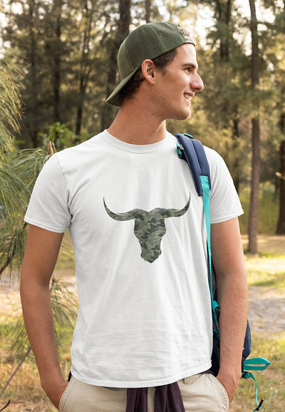 Mens Camouflage Bull T-shirt by Stitch & Simon - Stitch & Simon