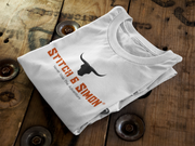 Grey T Shirt Featuring Black Bull Icon Stitch & Simon Outdoor Clothing Brand Ideal For Camping, Hiking, Sports and Outdoors - Stitch & Simon