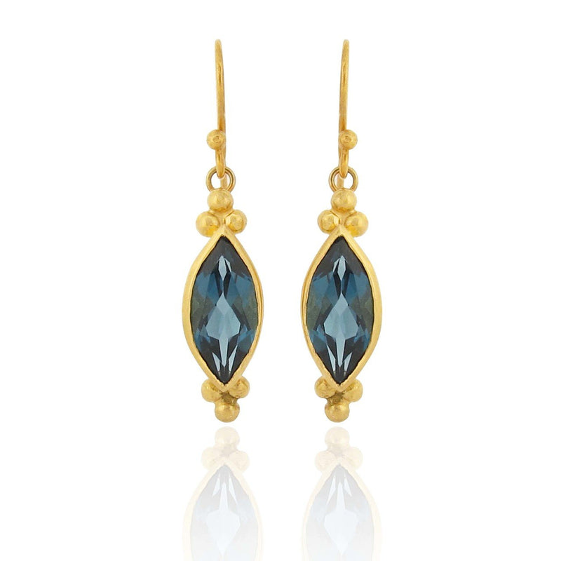 Alamar Earrings - London Blue Topaz
