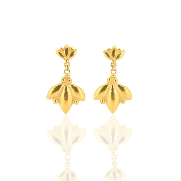 Orus Drop Earrings - Gold