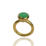 Behrianna Cocktail Ring - 10mm Chrysoprase  - Gold