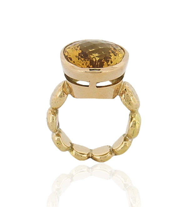 Adara Cocktail Ring - Citrine - 9ct Gold