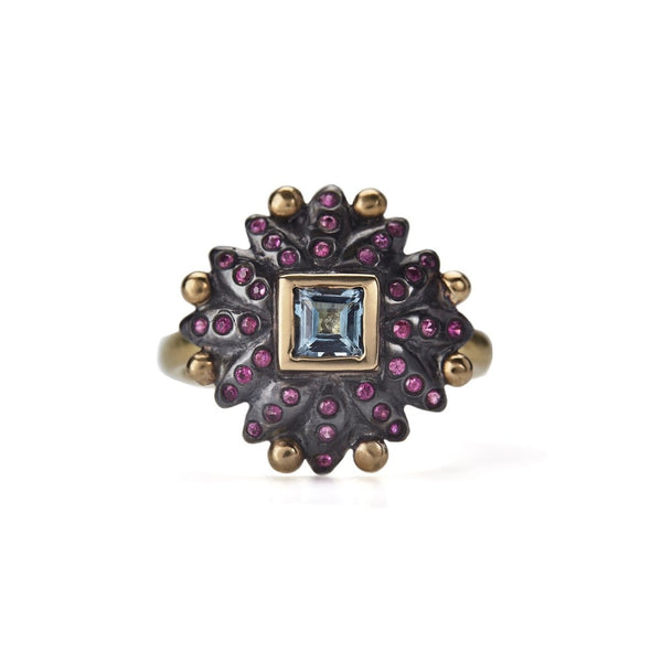 Eleanor Ring - Pink Sapphires & Aquamarines