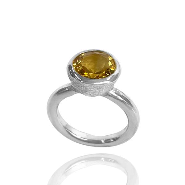 Behrianna Cocktail Ring - 10mm Citrine - Silver