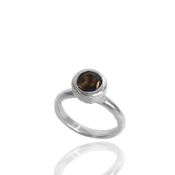 Products Behrianna Cocktail Ring - 7.5 mm - Smoky Quartz - Silver
