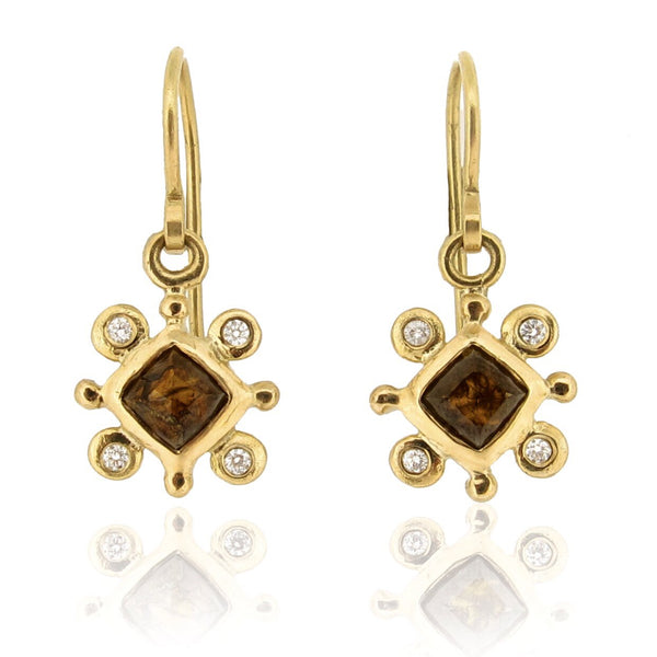 Olivia Earrings - 18ct & Diamonds